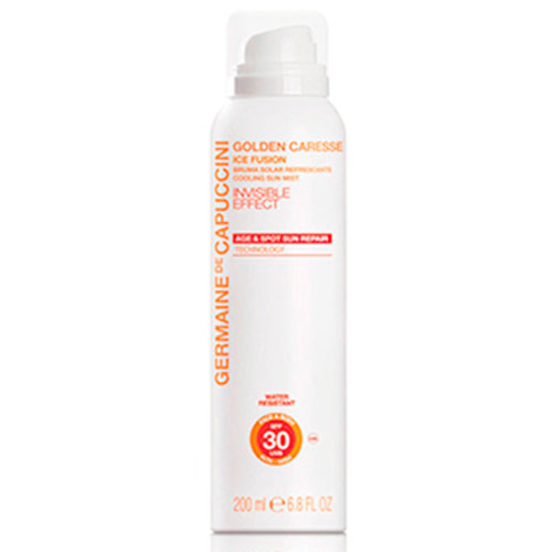 Germaine de Capuccini Golden Caresse Охлаждающая дымка (Ice Fusion Cooling Sun Mist SPF30 200 ml)