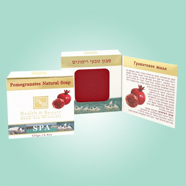 Health and Beauty Health & Beauty Гранатовое мыло (Pomegranates Soap 125 gr)